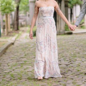 BCBGMAXAZRIA Amber Strapless Gown